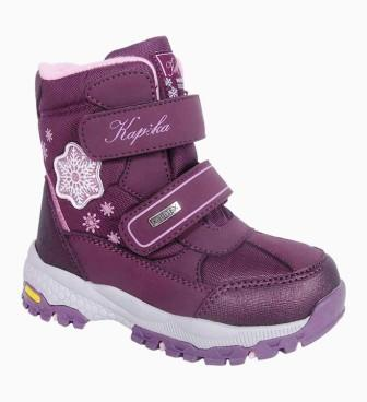 KAPIKA Ботинки р.28-32  арт.42425-2 (фиолетовый) (поступление 29.09.2021г.) цена 3850руб.