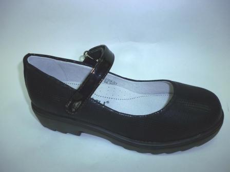 KEDDO  998302/04-01 черный детские (для девочек) туфли  (поступление 06.08.2019г.) цена  1550руб.