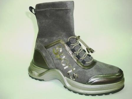 BI&KI A-B004-77-B Ботинки девоч.33-38 Серый (поступление 20.08.2019г.)  цена  2450руб.