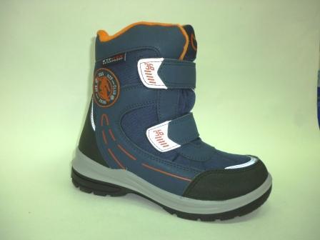 КОТОФЕЙ 654972-41 син-ора ботинки школьные комбинирован., 32-35  (поступление 25.10.2019г.)  цена  3350руб.