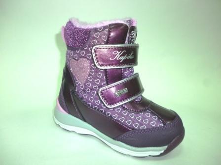 KAPIKA Ботинки текстиль (фиолетовый) р.25-29  42366-1 (фиолетовый) (поступление 28.10.2019г.)  цена  2700руб.