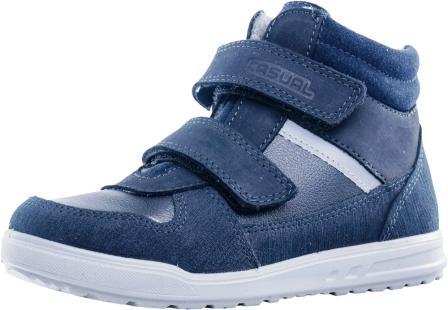 КОТОФЕЙ  652118-31 синий ботинки школьные нат. кожа (поступление 11.09.2020г.) цена 3600руб.