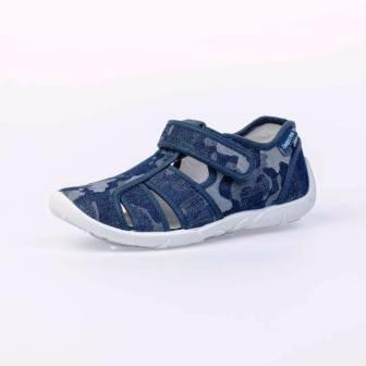 КОТОФЕЙ  421060-11 синий туфли летние дошкольные текстиль, 26-33 (поступление 25.09.2020г.) цена 900руб.