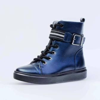 КОТОФЕЙ 552219-33 синий ботинки дошкольно-школьные Нат. кожа, 30-35 (поступление 09.02.2021г.) цена 3500руб.