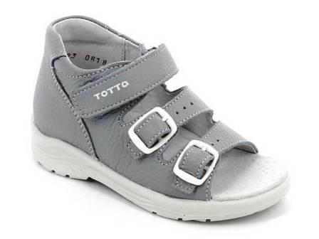 ТОТТА Туфли открытые дошкольные, М1142-кожанная подкладка  1142/811 (серый) (поступление 23.04.2021г.) цена 1890руб.