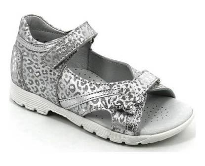ТОТТА Туфли открытые детские, М1083-кожанная подкладка, 1083-022,509 (серебро) (поступление 01.06.2021г.) цена 2490руб.