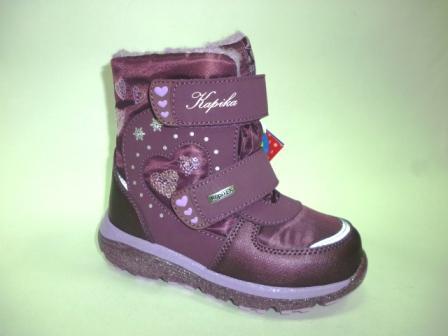 KAPIKA Ботинки текстиль (фиолетовый) р.28-32  42370-1 (фиолетовый) (поступление 28.10.2019г.)  цена  2850руб.