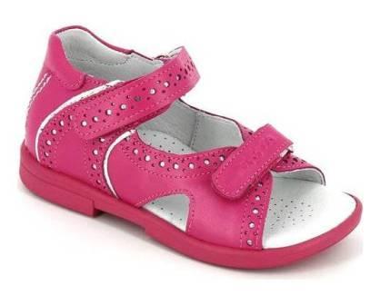 ТОТТА  Туфли открытые детские, М10216/1-кожанная подкладка, открытый носок; 187,022 (м10216/1-КП-187,022 фуксия/с) (поступление 25.05.2020г.)  цена  2300руб.