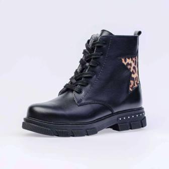 КОТОФЕЙ 752174-31 черный ботинки школьно-подростковые Нат. Кожа  (поступление 11.09.2020г.) цена 3890руб.