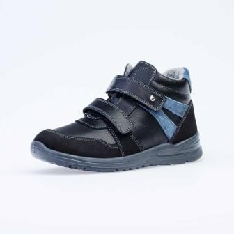 КОТОФЕЙ 652170-32 черный ботинки школьные Нат. кожа, 36-37,5 (поступление 18.09.2020г.) цена 3600руб.