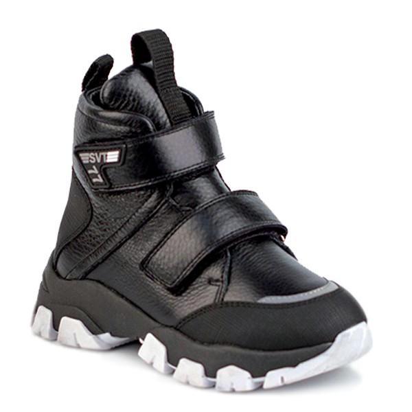 Shagovita Ботинки для мальчика черный 20СМФ 27-31 Мальчик  35153ш черный (поступление 02.10.2020г.) цена 3700руб.