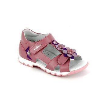 ТОТТА Туфли открытые школьные, М1131/1-кожанная подкладка, открытый носок; 217 (ирис)  (1131/1-217 (ирис) (поступление 15.10.2020г.) цена 2400руб.