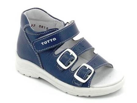 ТОТТА Туфли открытые дошкольные, М1142-кожанная подкладка  1142-822 (лазурный синий) (поступление 23.04.2021г.) цена 1890руб.