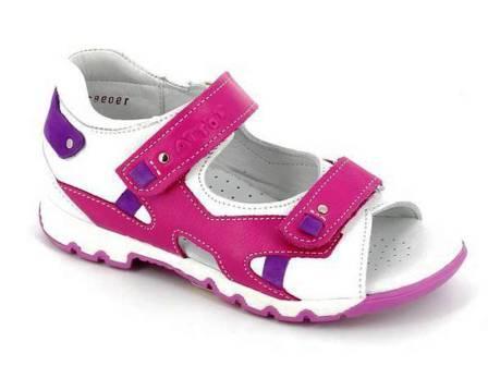 ТОТТА Туфли открытые дошкольные, М1150 кожанная подкладка, арт. 1150-99,45,187(фуксия/лиловый/белый) (поступление 07.05.2021г.) цена 2490руб.