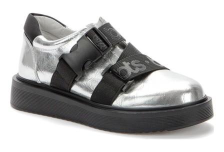 BETSY 918313/03-04 серебряный/черный детские (для девочек) полуботинки (поступление 27.07.2021г.) цена 2400руб.