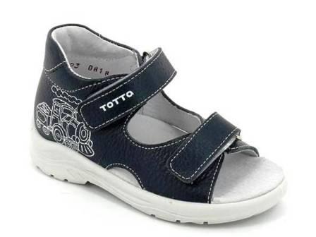 ТОТТА Туфли открытые детские, М1144-кожанная подкладка, 27-31, 1144-812 (синий) (поступление 28.07.2021г.) цена 1890руб.
