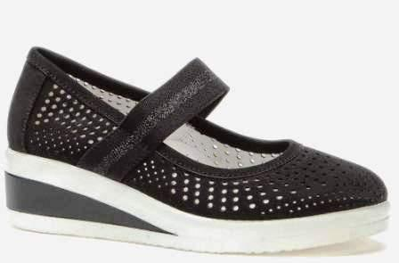 BETSY  998321/03-01 черный иск.нубук детские (для девочек) туфли (поступление 14.08.2020г.) цена 2150руб.