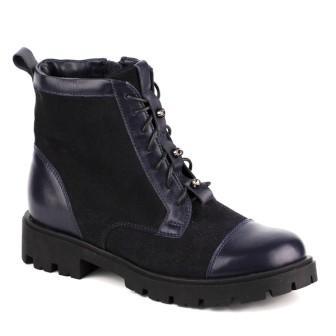 Shagovita Ботинки для девочки 19СМФ 32-37 Девочка темно-синий  65166Б (поступление 10.09.2020г.) цена 3400руб.