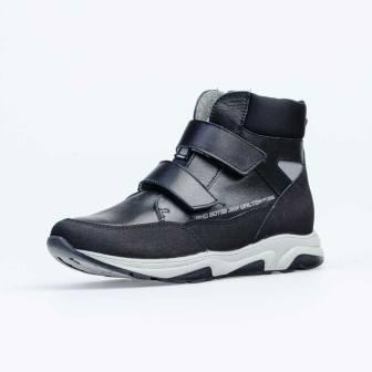 КОТОФЕЙ 652172-31 черный ботинки школьные Нат. Кожа, 36-37,5  (поступление 18.09.2020г.) цена 3600руб.