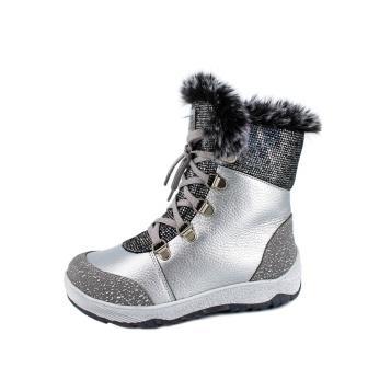 Лель м 4-1786 Ботинки школьные нат мех (серый)   (поступление 05.10.2020г.) цена 5800руб.