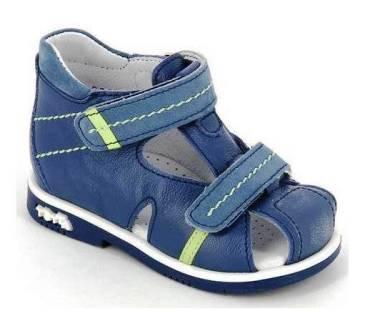 ТОТТА Туфли открытые малодетские, М077/1-кожанная подкладка, 077/1-3,43,064 (джинс/голубой) (поступление 28.07.2021г.) цена 2450руб.